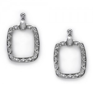 Tacori Diamond Earrings Platinum Fine Jewelry FE600