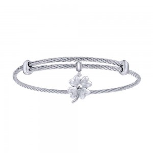 Gabriel Fashion Silver Two-Tone Soho Bangle Bracelet BG3578MXJJJ