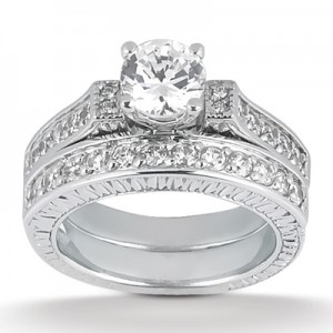 Taryn Collection Platinum Diamond Engagement Ring TQD A-653