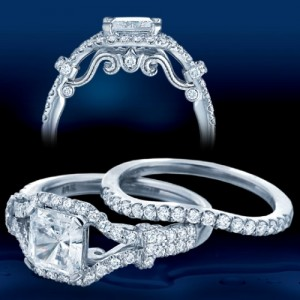Verragio Platinum Insignia Engagement Ring INS-7043