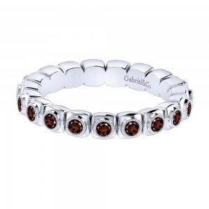 Gabriel Fashion Silver Stackable Stackable Ladies' Ring LR6805-7SVJGN
