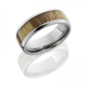Lashbrook HW8D15/TAMARIND POLISH Hard Wood Wedding Ring or Band