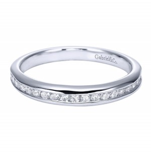 Gabriel 14 Karat Contemporary Wedding Band WB6617W44JJ