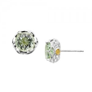 SE10512 Tacori Color Medley Crescent Crown Stud Earrings