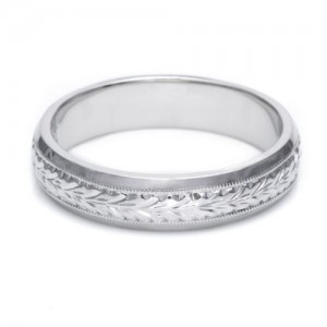 Tacori GU92 Platinum Hand Engraved Wedding Band