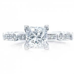 Tacori 202-2PR55 18 Karat Sculpted Crescent Engagement Ring