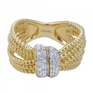 Gabriel Fashion 14 Karat Two-Tone Hampton Diamond Ladies' Ring LR5815M44JJ