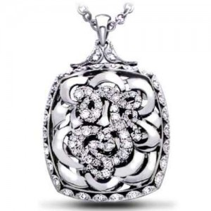Tacori Diamond Necklace Platinum Fine Jewelry FP601F