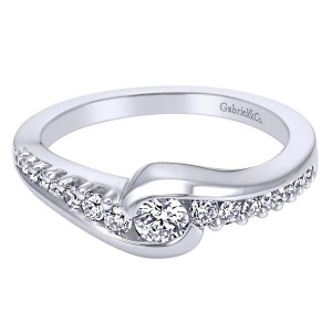 Gabriel 14 Karat Contemporary Engagement Ring ER96110W44JJ