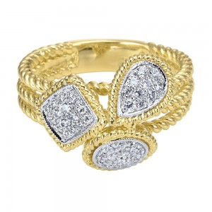 Gabriel Fashion 14 Karat Two-Tone Hampton Diamond Ladies' Ring LR5816M44JJ
