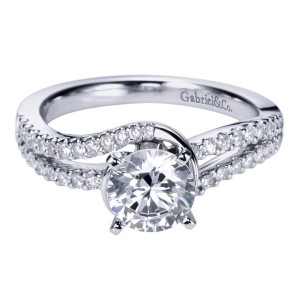 Gabriel 14 Karat Contemporary Engagement Ring ER6681W44JJ