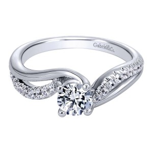 Gabriel 14 Karat Contemporary Engagement Ring ER910171W44JJ