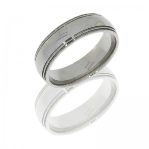 Lashbrook 8D4MIL POLISH Titanium Wedding Ring or Band