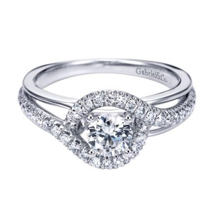 Gabriel 14 Karat Contemporary Engagement Ring ER6952W44JJ
