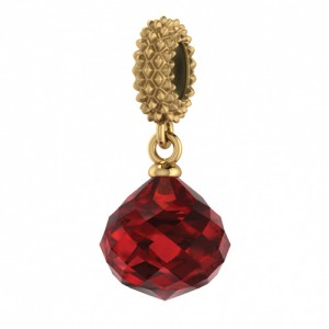 JLo Collection Endless Jewelry Ruby Mysterious Drop 18k Gold Plated Charm 3801-3