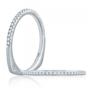 A.JAFFE Platinum Signature Diamond Wedding Ring MRS874