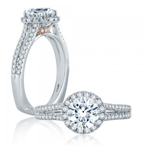A.JAFFE 18 Karat Signature Engagement Ring MES872