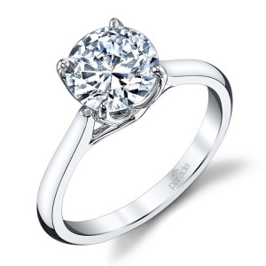 Parade New Classic R3671 Platinum Diamond Engagement Ring