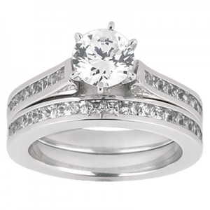 Taryn Collection Platinum Diamond Engagement Ring TQD A-778