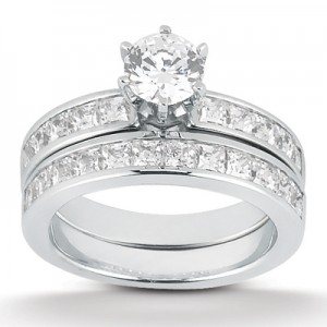 Taryn Collection Platinum Diamond Engagement Ring TQD A-8341
