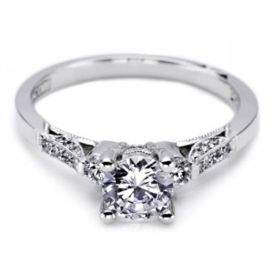 Tacori Platinum Solitaire Engagement Ring 2590RD55