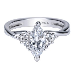 Gabriel 14 Karat Contemporary Engagement Ring ER8954W44JJ