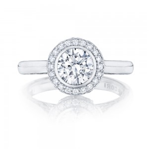 304-25RD65 Platinum Tacori Starlit Engagement Ring