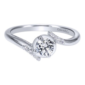 Gabriel 14 Karat Contemporary Engagement Ring ER911959R0W44JJ