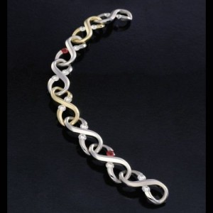 Kretchmer Platinum/18K Gold Large Infinity Bracelet Tension Set