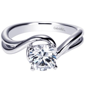 Gabriel 14 Karat Contemporary Engagement Ring ER9178W4JJJ