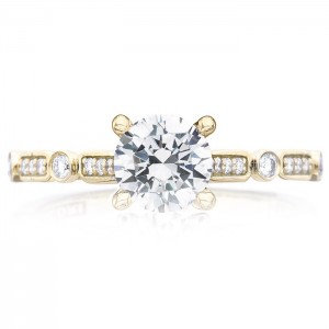 Tacori 202-2RD6Y 18 Karat Sculpted Crescent Engagement Ring