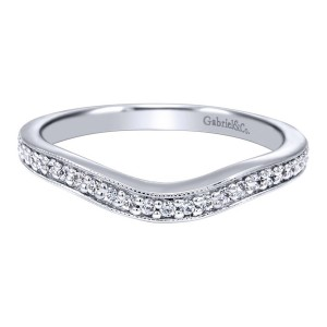 Gabriel 14 Karat Victorian Wedding Band WB10220W44JJ