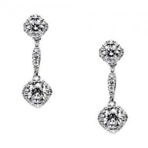 Tacori Diamond Earrings Platinum Fine Jewelry FE651