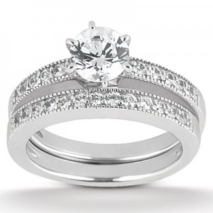 Taryn Collection 18 Karat Diamond Engagement Ring TQD A-7611