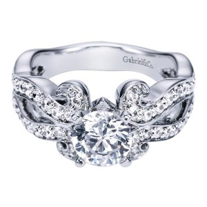 Gabriel 14 Karat Contemporary Engagement Ring ER5481W44JJ