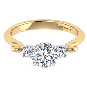 Gabriel 14 Karat Contemporary Engagement Ring ER7737M44JJ