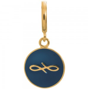 Endless Jewelry Navy Endless Coin Gold Plated Charm 53345-8