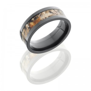 Lashbrook ZCAMO8F14-RTMAX4 POLISH Camo Wedding Ring or Band