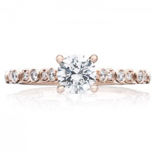 Tacori 201-2RD5PK 18 Karat Sculpted Crescent Engagement Ring