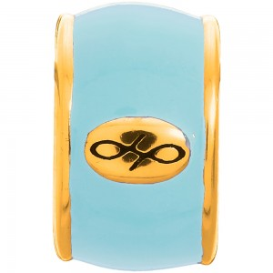 Endless Jewelry Sky Blue Endless Enamel Gold Plated Charm 52100-5