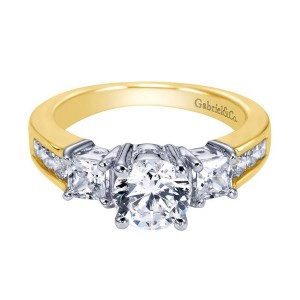Gabriel 14 Karat Contemporary Engagement Ring ER3677M44JJ