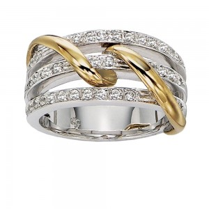 Gabriel Fashion 14 Karat Two-Tone Modern Ladies' Ring LR4185M44JJ