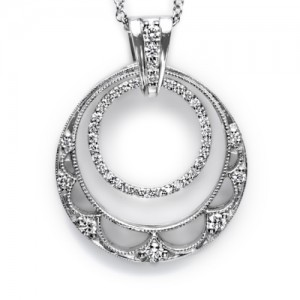 Tacori Diamond Necklace Platinum Fine Jewelry FP579