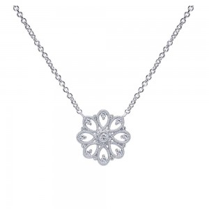 Gabriel Fashion Silver Victorian Necklace NK4334SVJWS