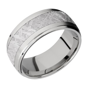 Lashbrook CC10DGE15/METEORITE Cobalt Chrome Wedding Ring or Band