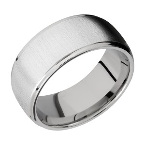 Lashbrook CC10DGE Cobalt Chrome Wedding Ring or Band