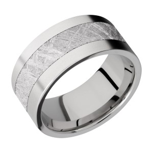 Lashbrook CC10F15/METEORITE Cobalt Chrome Wedding Ring or Band