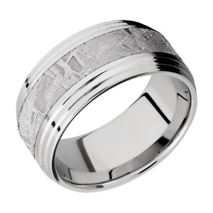 Lashbrook CC10F2S15/METEORITE Cobalt Chrome Wedding Ring or Band