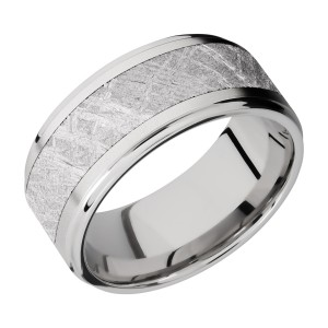 Lashbrook CC10FGE16/METEORITE Cobalt Chrome Wedding Ring or Band