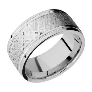 Lashbrook CC10FGEW2UMIL16/METEORITE Cobalt Chrome Wedding Ring or Band